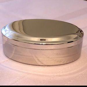 Silver Vintage Trinket jewellery box